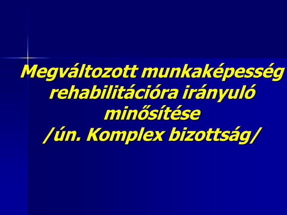 Megváltozott munkaképesség rehabilitációra irányuló minősítése /ún. Komplex bizottság/