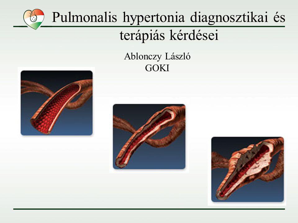 Pulmonalis hypertonia diagnosztikai és terápiás kérdései Ablonczy László GOKI