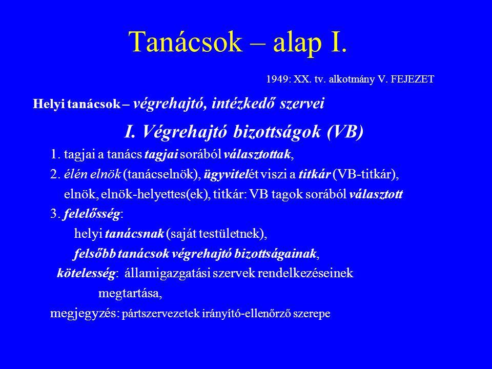 Tanácsok – alap III.1971: I. tv. – harmadik Tt., (de: 1949: XX.