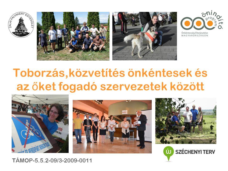 Toborzás,közvetítés önkéntesek és az ő ket fogadó szervezetek között TÁMOP-5.5.2-09/3-2009-0011