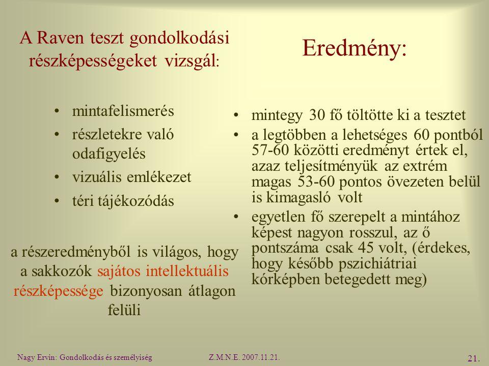 Nagy Ervin: Gondolkodás és személyiségZ.M.N.E.2007.11.21.