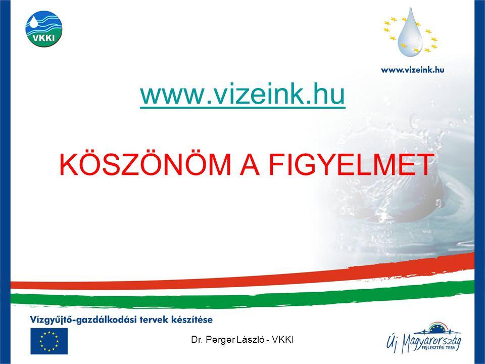 Dr. Perger László - VKKI www.vizeink.hu www.vizeink.hu KÖSZÖNÖM A FIGYELMET