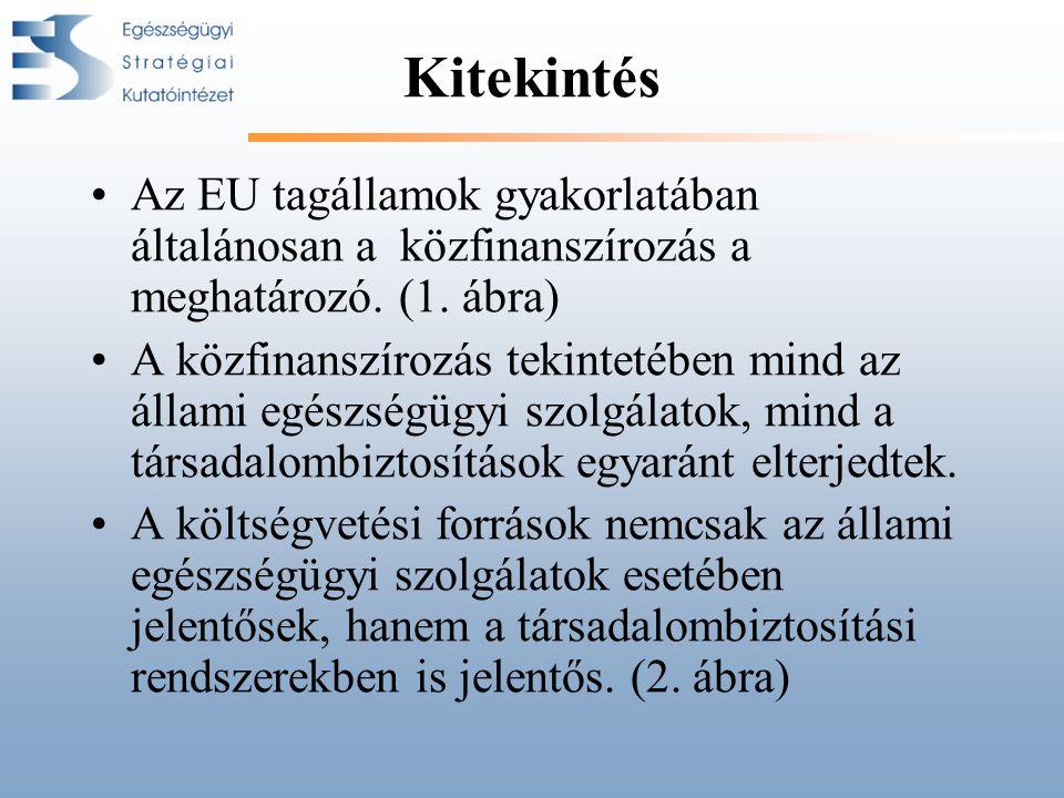 Kitekintés •Az EU tagállamok gyakorlatában általánosan a közfinanszírozás a meghatározó.