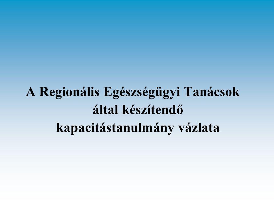 A Regionális Egészségügyi Tanácsok által készítendő kapacitástanulmány vázlata