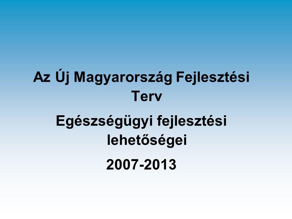 Az Új Magyarország Fejlesztési Terv Egészségügyi fejlesztési lehetőségei 2007-2013