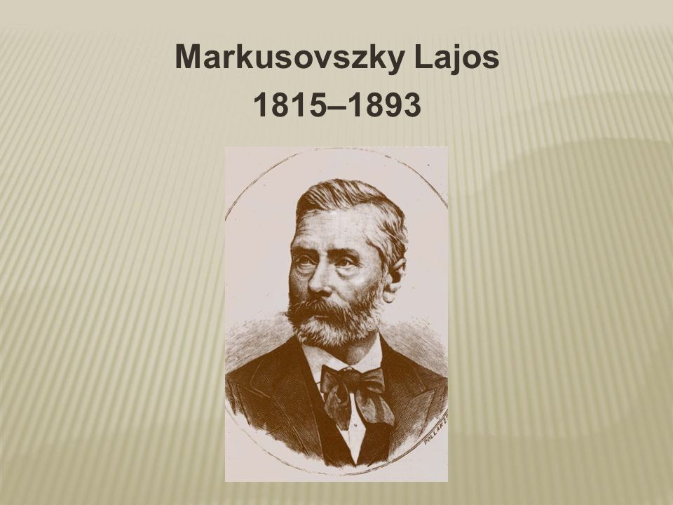 Markusovszky Lajos 1815–1893