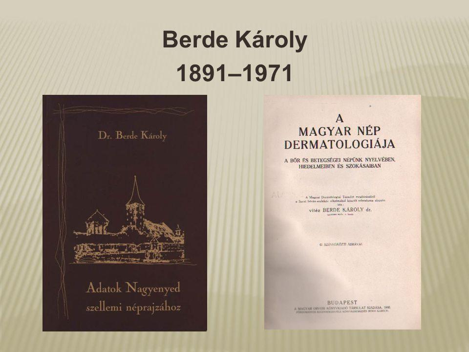 Berde Károly 1891–1971
