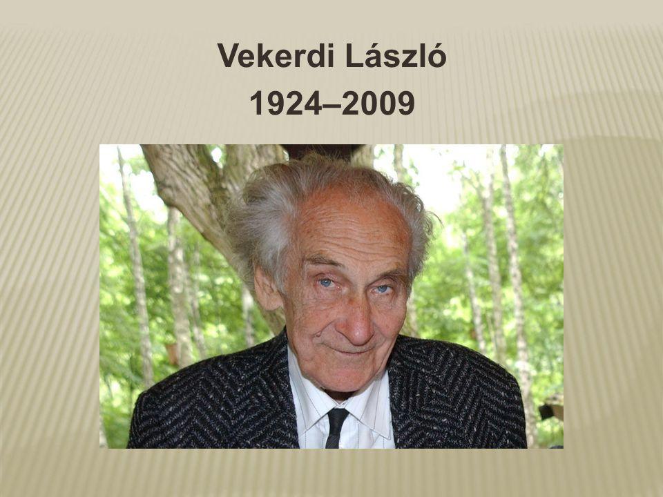 Vekerdi László 1924–2009