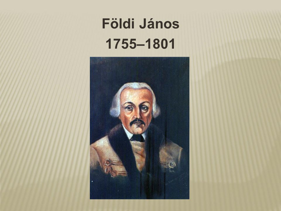 Földi János 1755–1801