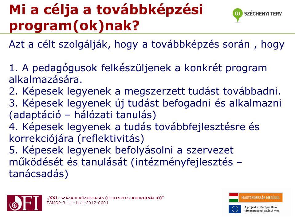 """""""XXI. SZÁZADI KÖZOKTATÁS ( FEJLESZTÉS, KOORDINÁCIÓ )"""" TÁMOP-3.1.1-11/1-2012-0001 Készítette: Varga Attila Budapest 2013. Február 27. Mi a célja a tová"""