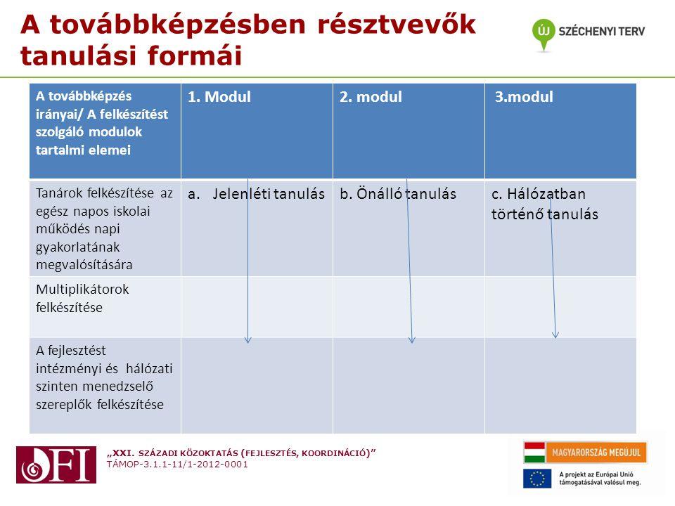 Az intézményi szintű fejlesztő- partnerek (pedagógusok) tevékenységének szerkezeti ábrája + a számukra biztosított támogatási rendszer (Emlékeztető: 4.
