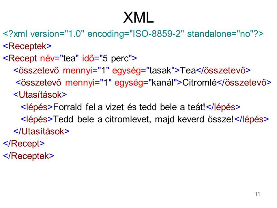 11 XML Tea Citromlé Forrald fel a vizet és tedd bele a teát.