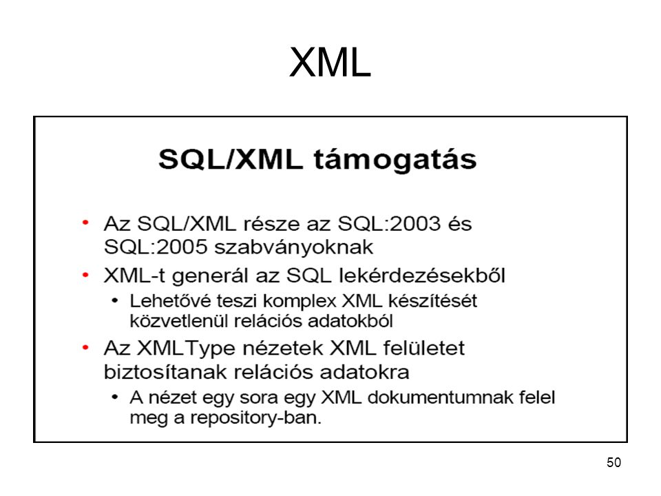 50 XML