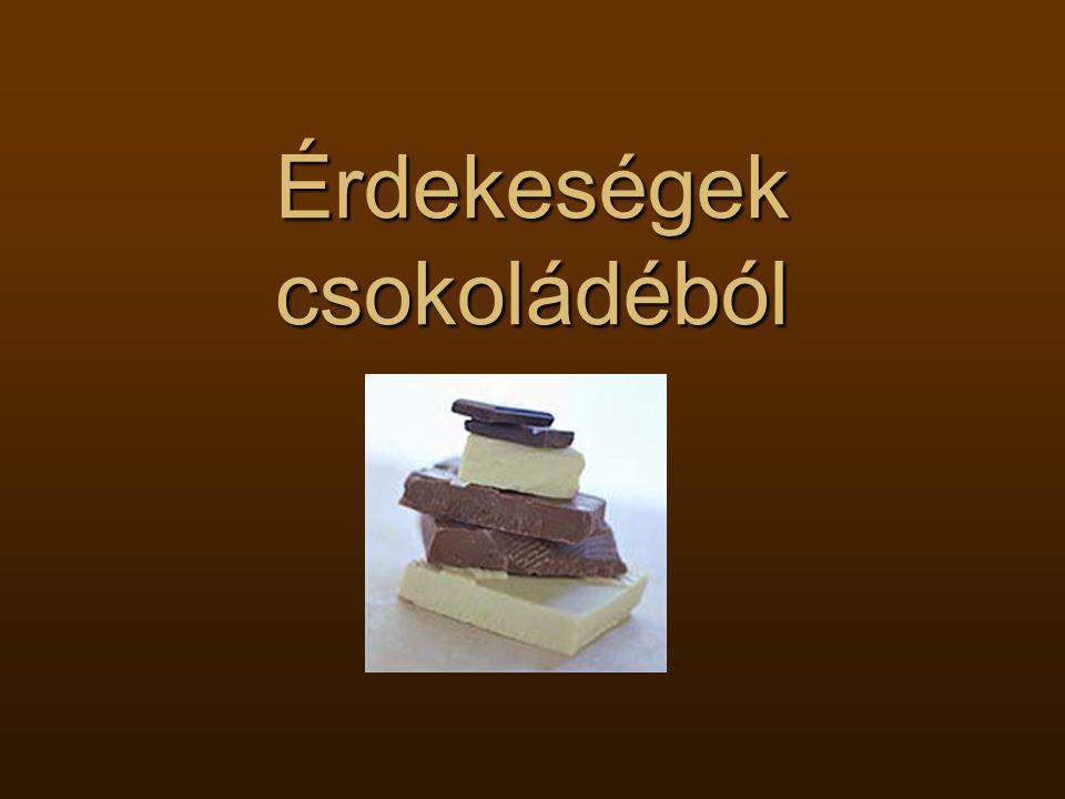 Érdekeségek csokoládéból