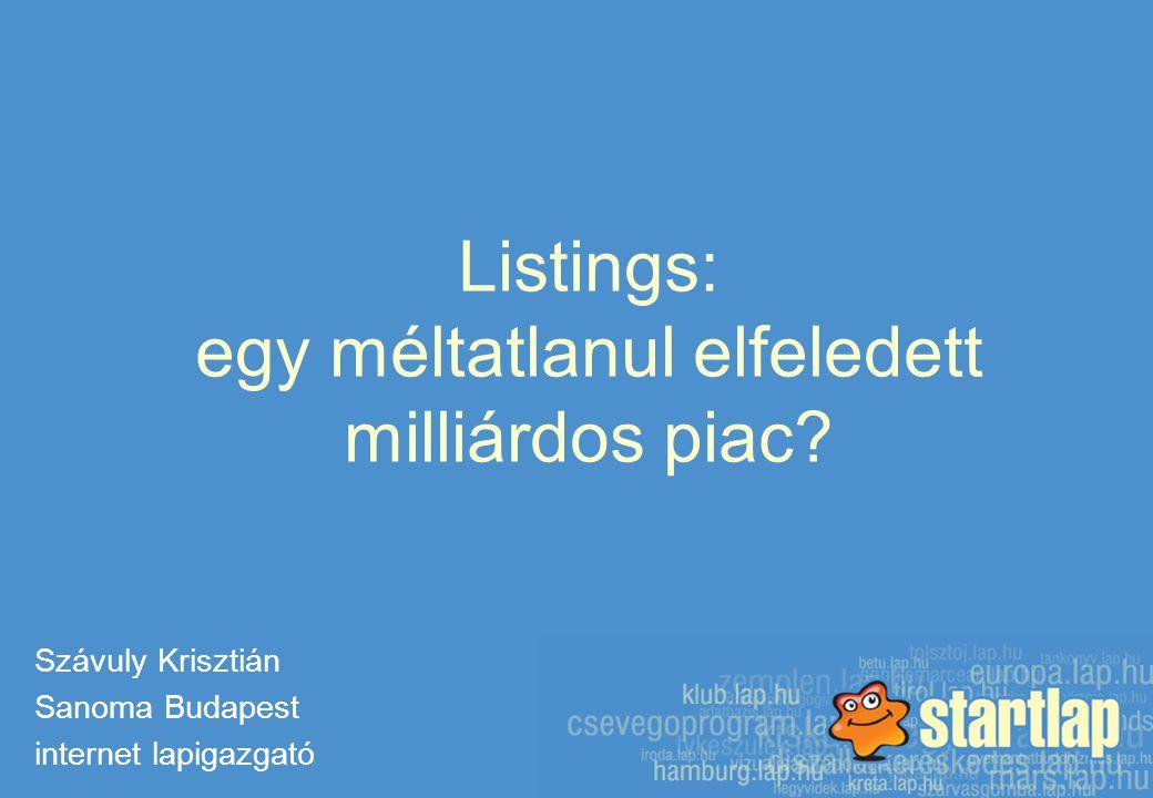 Listings: egy méltatlanul elfeledett milliárdos piac.