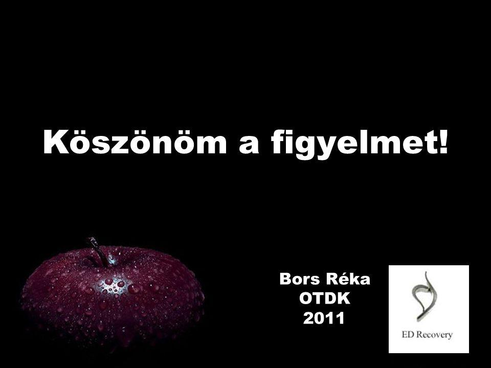 Köszönöm a figyelmet! Bors Réka OTDK 2011