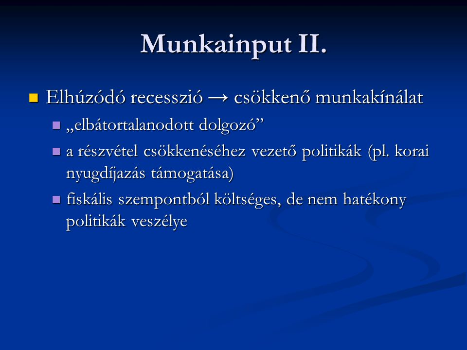 Munkainput II.