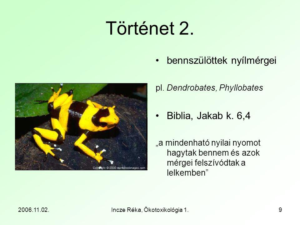 2006.11.02.Incze Réka, Ökotoxikológia 1.10 Történet 3.