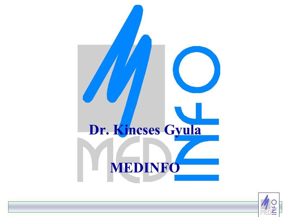 -11- 11 Az ágazati kommunikáció adatkapcsolati modellje évkönyvek, kiadványok, INTERNET Vezetői Információ s Rendszer EüM struktúra teljesítés / ráfordítás minőség szakmai adatok alapadatok környezet egészségügyi ellátórendszer lakosság demográfiai adatok szociális, gazdasági környezet Környezet- egészségügyi adatok KVM SZOCSMI PM nemzetközi adatszolgáltatás EUEU WHOWHO OECDOECD másodlagos adatgyűjtő központ primer adatgyűjtők ÁNTSz GYÓGYINFOK OEP Országos Intézetek KSH
