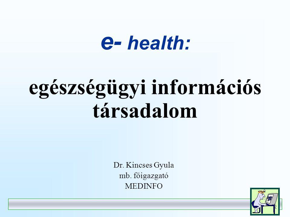 Az eü kártya javasolt funkciói - Autentifikációs terület - Tartós egészségügyi adatok területe (EU normatívák!) - Tranzakciós terület (utolsó receptek, utolsó beutalások stb.) - Speciális felhasználók által definiálható terület(ek) - Elektronikus pénztárca funkció (pl.: közgyógy-ellátottak gyógyszerkerete) - Egészségpénztárak, kiegészítő egészségbiztosítások saját adatai (azonosítás, jogosultság, szolgáltatások, stb.) - Speciális betegcsoportok adatai (vesebetegek, immunológiai betegek, SM betegek, stb.) - Egyes speciális szervezetek, funkciók adatai (pl.: donor kártya, a véradók területe) - Bonus rendszerek adatai
