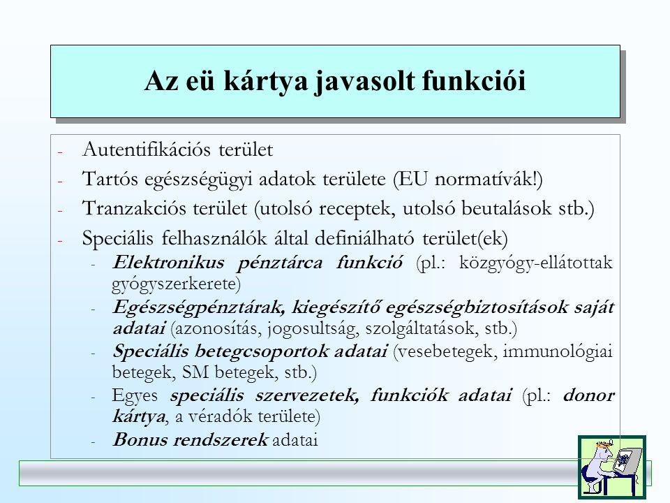A TAJ kártya kérdése  A kártya bevezetésének ma nincs jogi kényszere  minden magyar állampolgár jogosult az ellátásra  egy finanszírozó van EU .