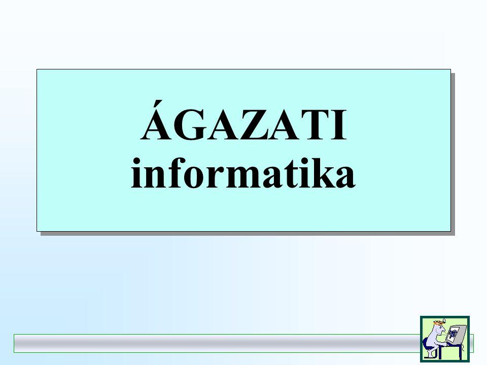 ÁGAZATI informatika