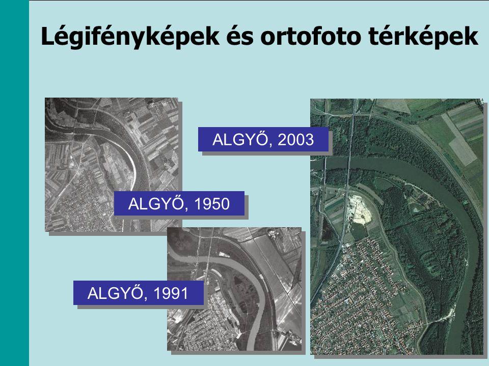 ALGYŐ, 1950 ALGYŐ, 1991 ALGYŐ, 2003 Légifényképek és ortofoto térképek