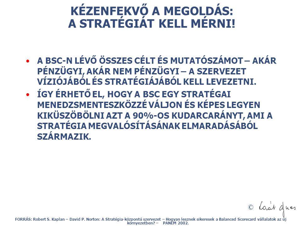 © KÉZENFEKVŐ A MEGOLDÁS: A STRATÉGIÁT KELL MÉRNI.