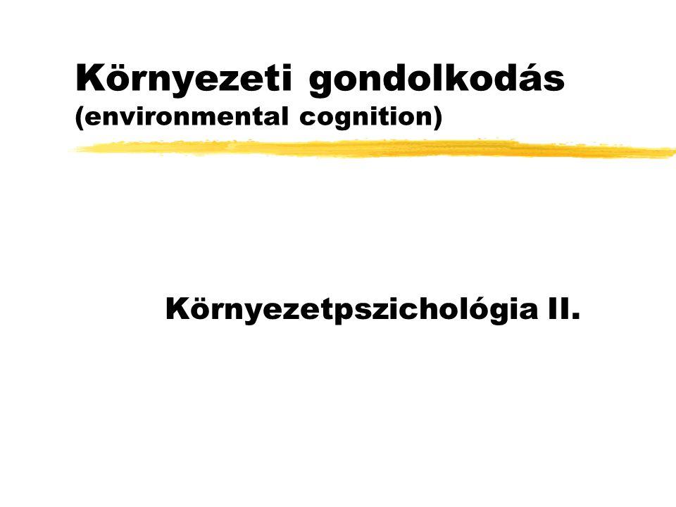 Környezeti gondolkodás (environmental cognition) Környezetpszichológia II.
