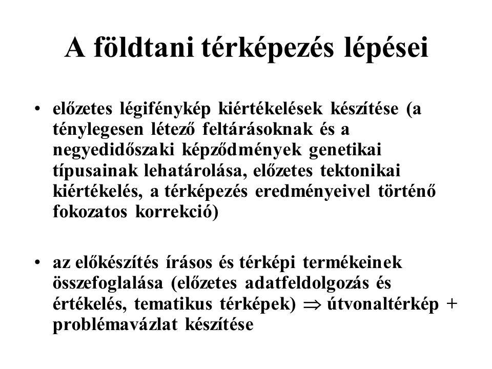 A földtani szakirodalom elérhetősége •A Magyar Bányászati és Földtani Hivatal – MBFH (1145 Budapest, Colombus u.