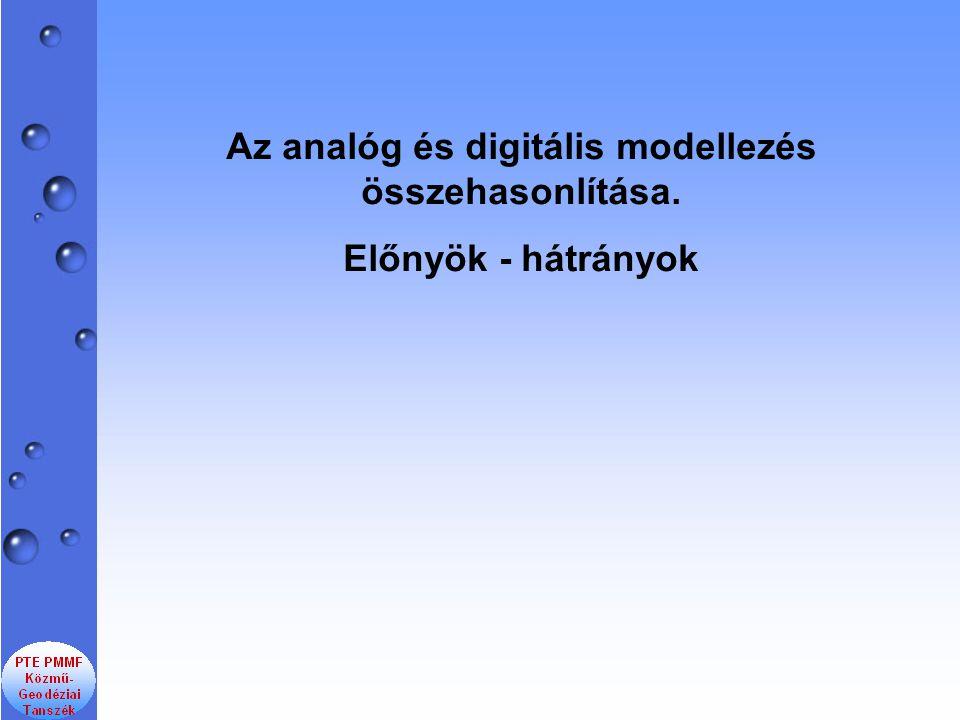 Az analóg és digitális modellezés összehasonlítása. Előnyök - hátrányok