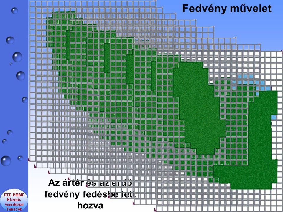 Fedvény művelet Az ártér és az erdő fedvény fedésbe lett hozva