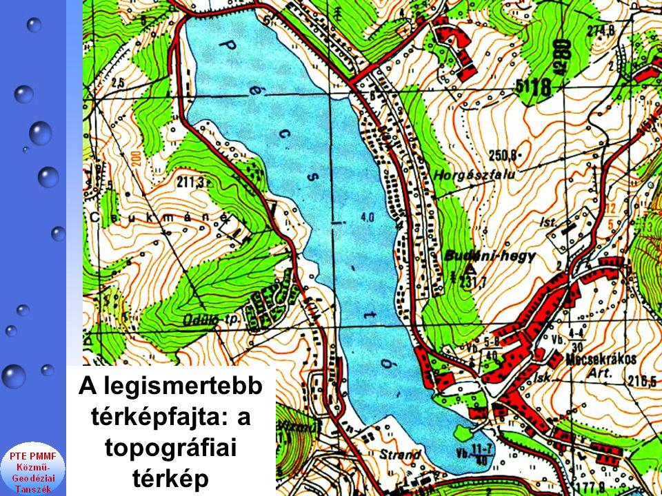 A legismertebb térképfajta: a topográfiai térkép