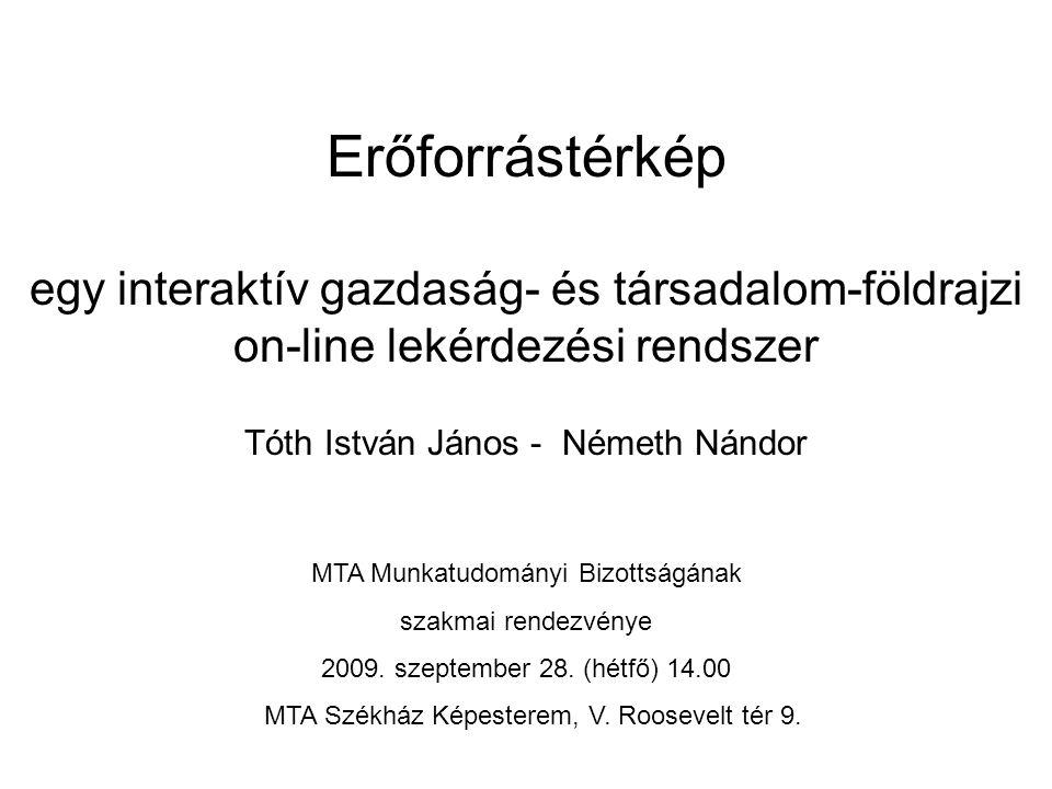 MTA KTIErőforrástérkép - Béta12 Erőforrástérkép Az előadás felépítése – Célok, példák – Alapelvek – Mit tud.