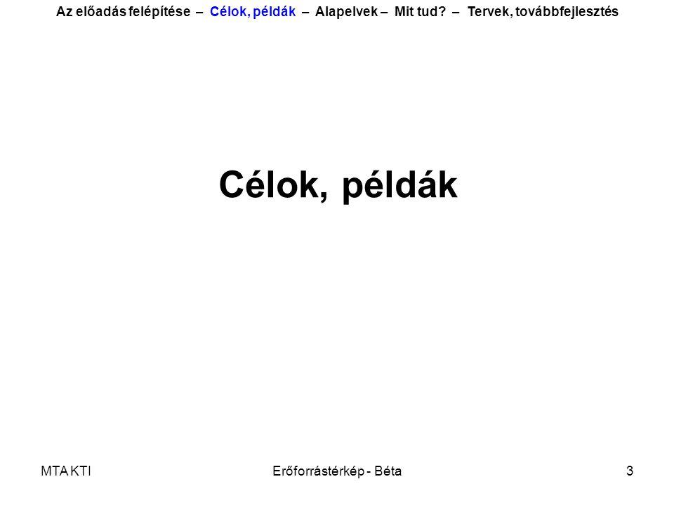 MTA KTIErőforrástérkép - Béta4 •Mi történik (történt) a magyar társadalomban és gazdaságban.
