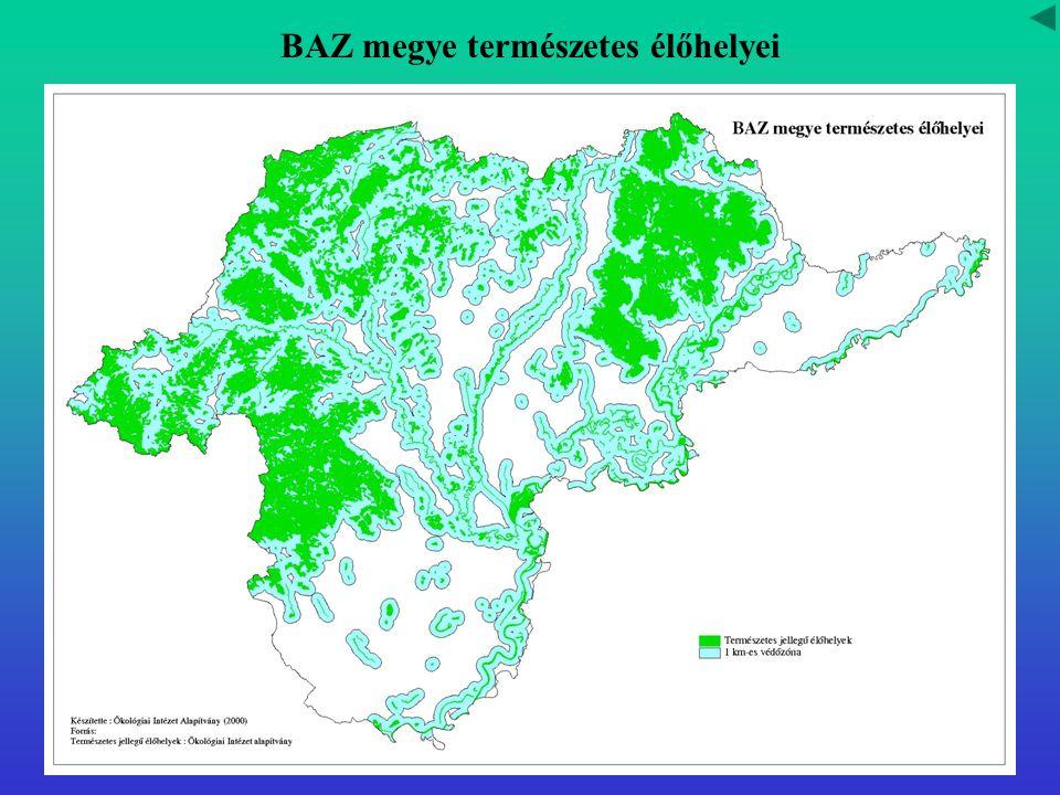 BAZ megye természetes élőhelyei
