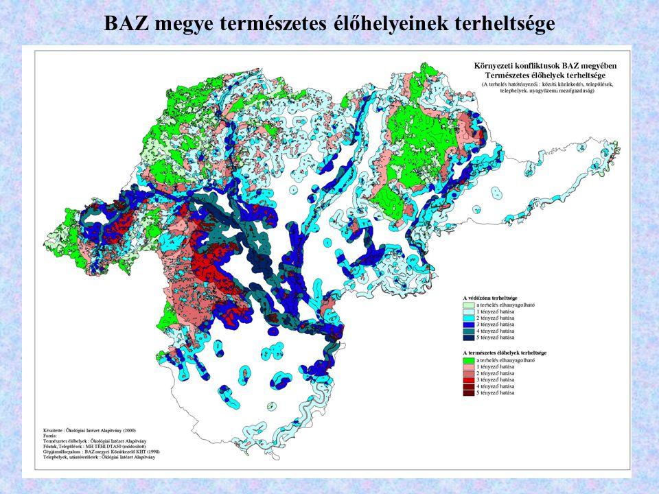 BAZ megye természetes élőhelyeinek terheltsége