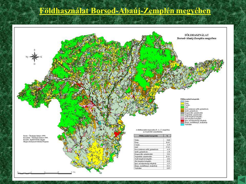 Földhasználat Borsod-Abaúj-Zemplén megyében