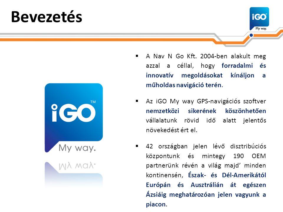 Bevezetés  A Nav N Go Kft. 2004-ben alakult meg azzal a céllal, hogy forradalmi és innovatív megoldásokat kínáljon a műholdas navigáció terén.  Az i