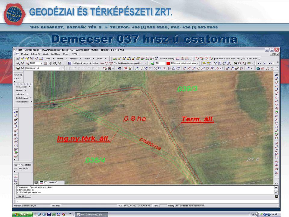 Demecser 037 hrsz-ú csatorna