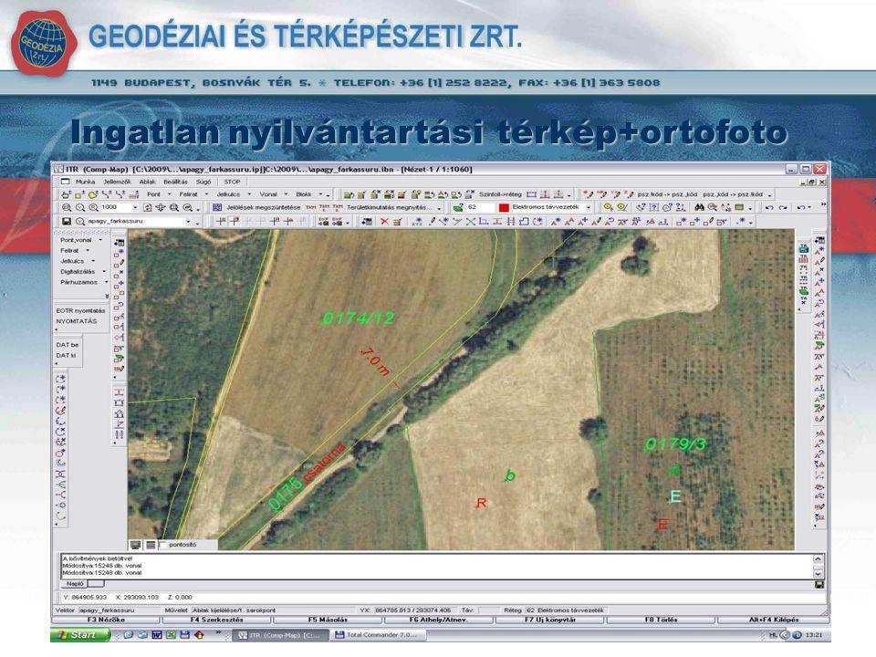 Ingatlan nyilvántartási térkép+ortofoto Ingatlannyilvántartási térkép+ortofoto Ingatlan nyilvántartási térkép+ortofoto
