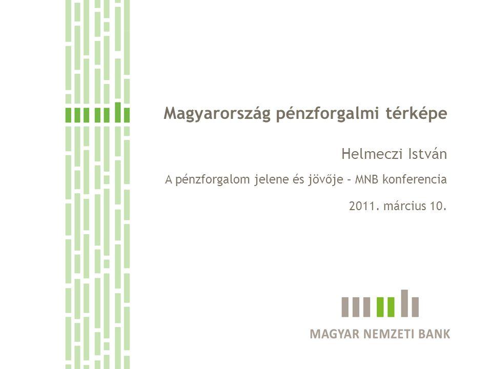 Magyarország pénzforgalmi térképe Helmeczi István A pénzforgalom jelene és jövője – MNB konferencia 2011.