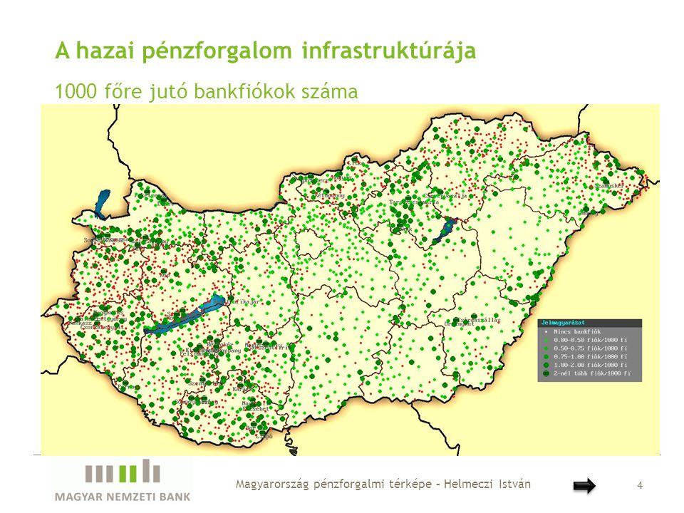 A hazai pénzforgalom térképe Csoportos átutalás Magyarország pénzforgalmi térképe – Helmeczi István 15 • Budapest szerepe ezen fizetési mód tekintetében is jelentős, de ha kiszűrjük az állami bér/nyugdíjfizetést, akkor már nem annyira nyomasztóan, mint azt az összforgalomnál láthattuk • Bizonyos megyeszékhelyek között is megfigyelhető erősebb kapcsolat (Szolnok- Debrecen/Nyíregyháza, Miskolc-Salgótarján, Kecskemét- Szeged/Békéscsaba)