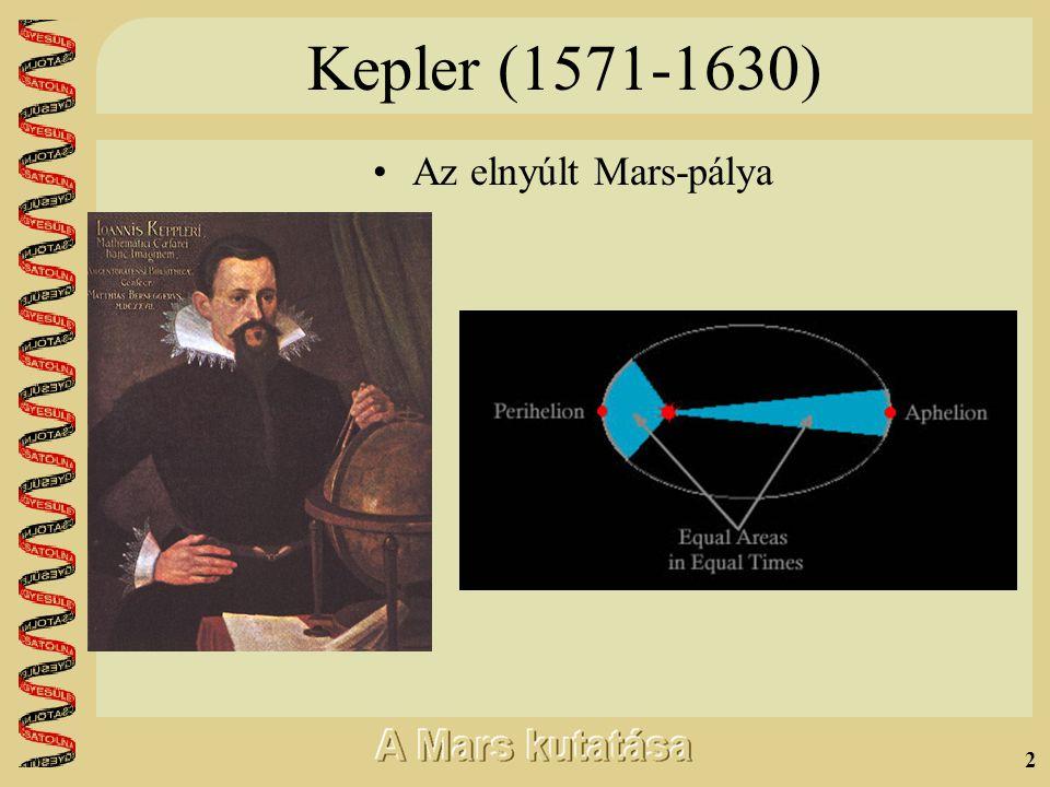 2 Kepler (1571-1630) •A•Az elnyúlt Mars-pálya