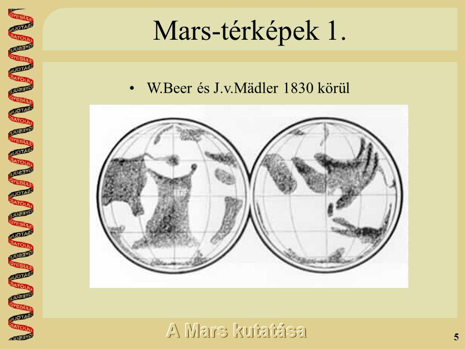 4 További távcsöves megfigyelések •William Herschel (1738-1822) •Vékony légkör •Tengelyferdeség •Teljesen Földszerű