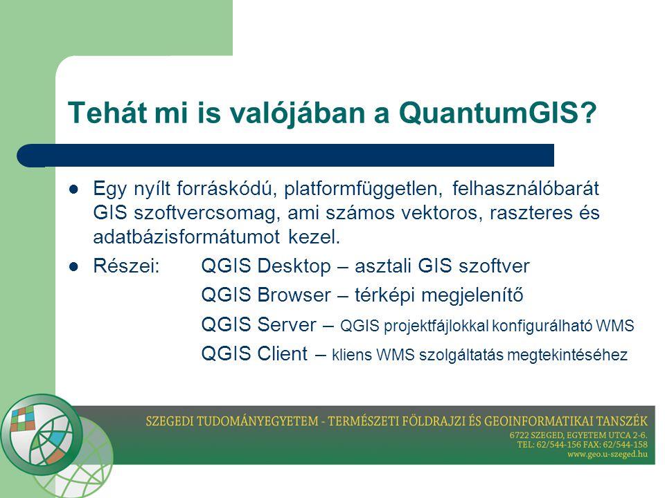 Tehát mi is valójában a QuantumGIS.
