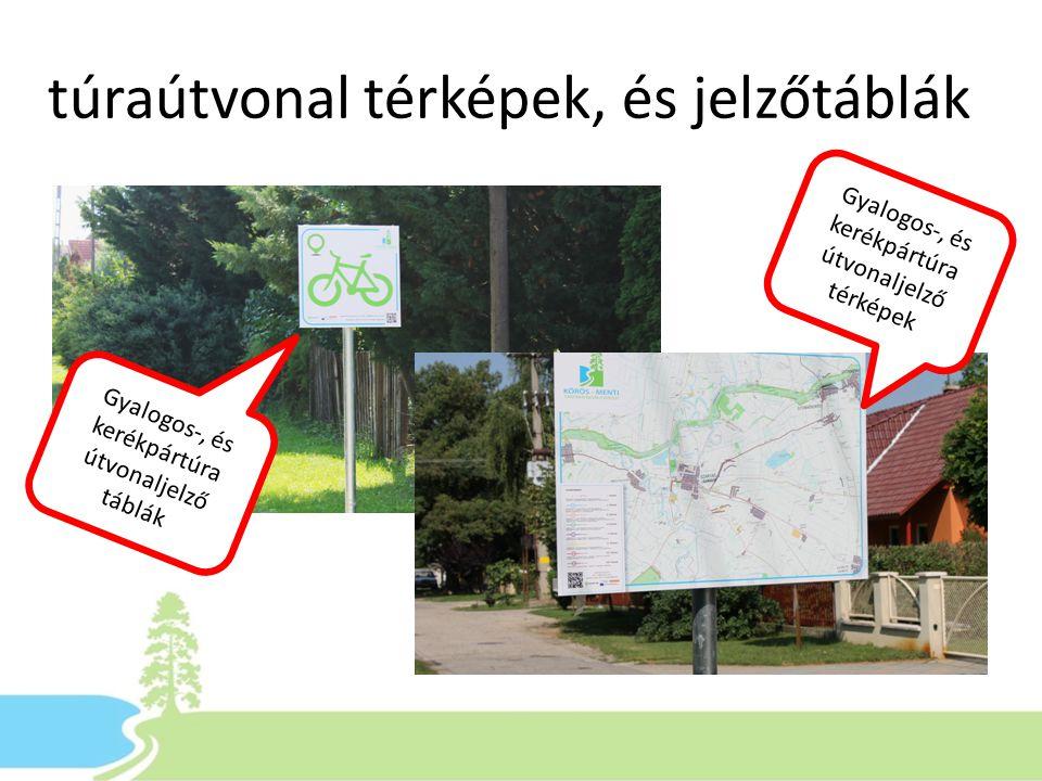 túraútvonal térképek, és jelzőtáblák Gyalogos-, és kerékpártúra útvonaljelző térképek Gyalogos-, és kerékpártúra útvonaljelző táblák
