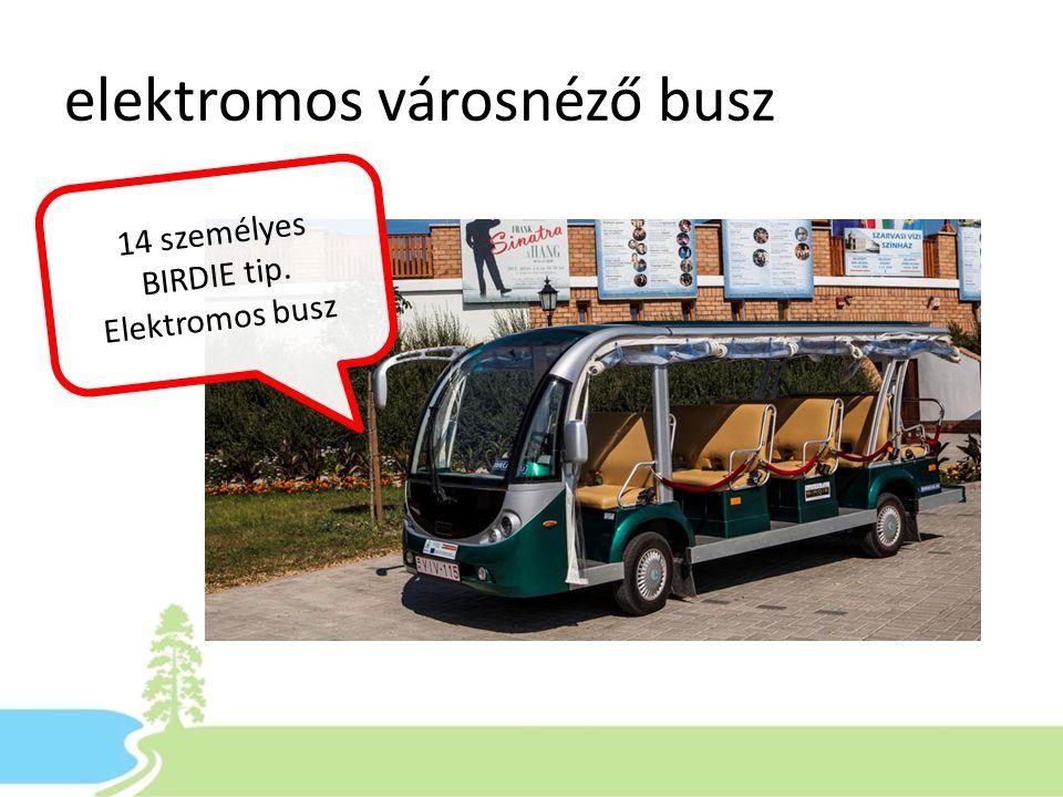 elektromos városnéző busz 14 személyes BIRDIE tip. Elektromos busz