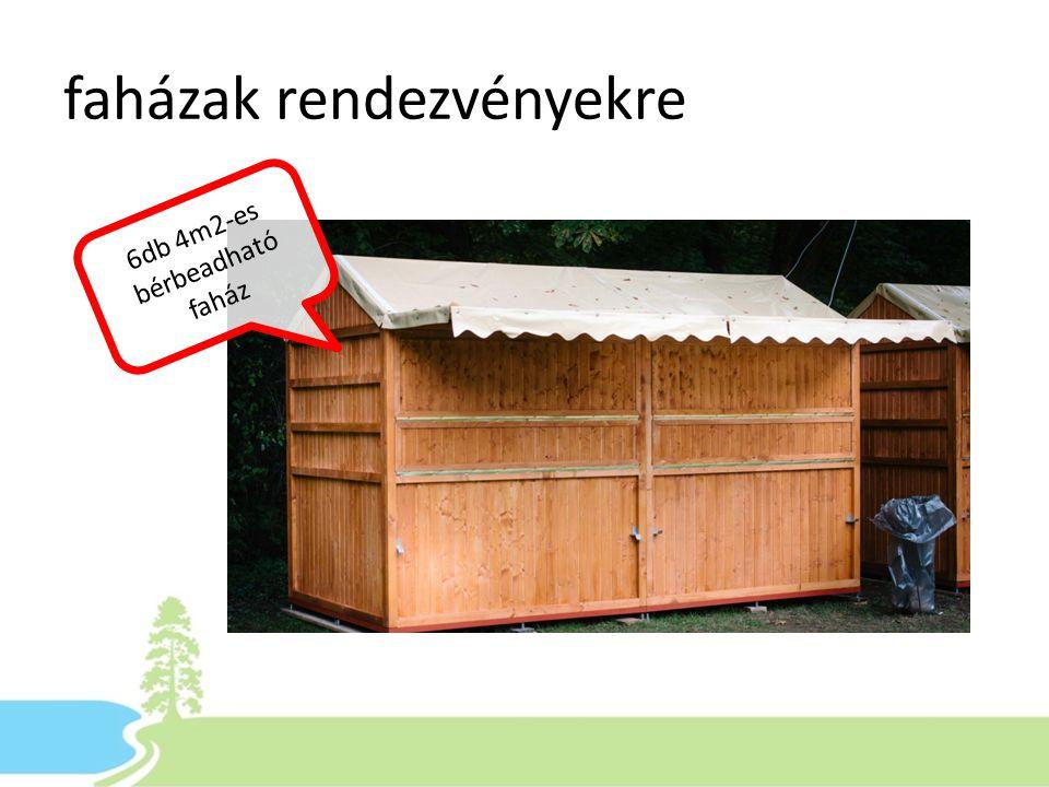 faházak rendezvényekre 6db 4m2-es bérbeadható faház