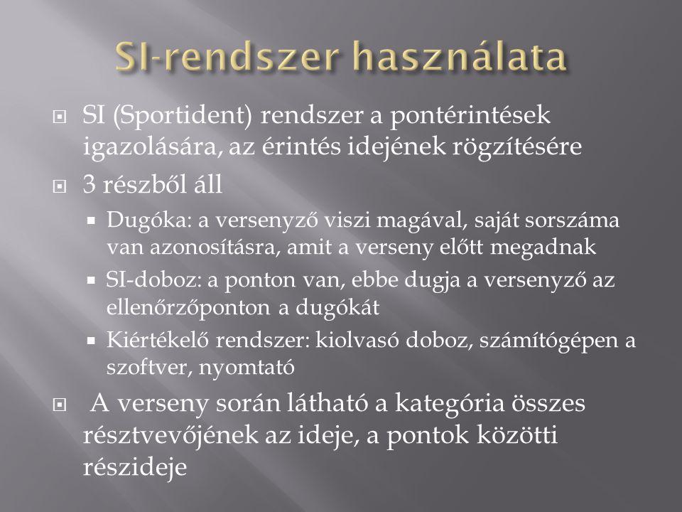  Elméleti edzések  Terepi technikai edzések  Normál pályák  Speciális feladatú pályák  Speciális térképeken (pl.